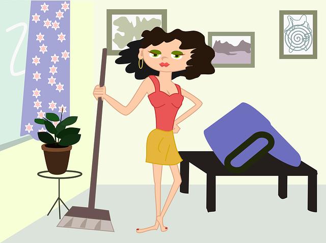žena v domácnosti animace