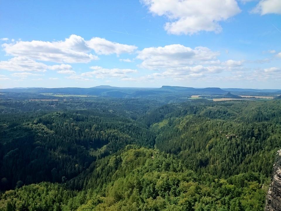 pohled na krajinnou oblast